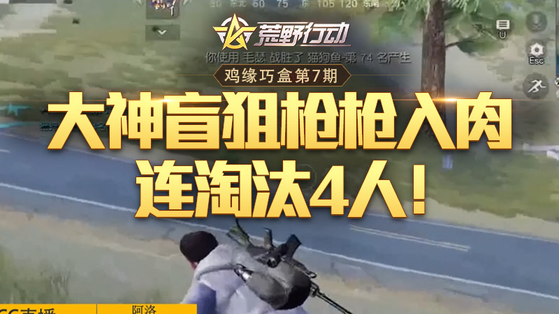 鸡缘巧盒:大神盲狙枪枪入肉,连淘汰4人!