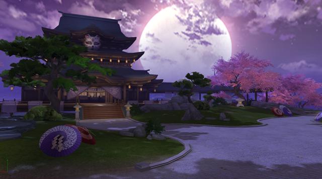 【图2】巨大的紫月,是阿兰若的标志
