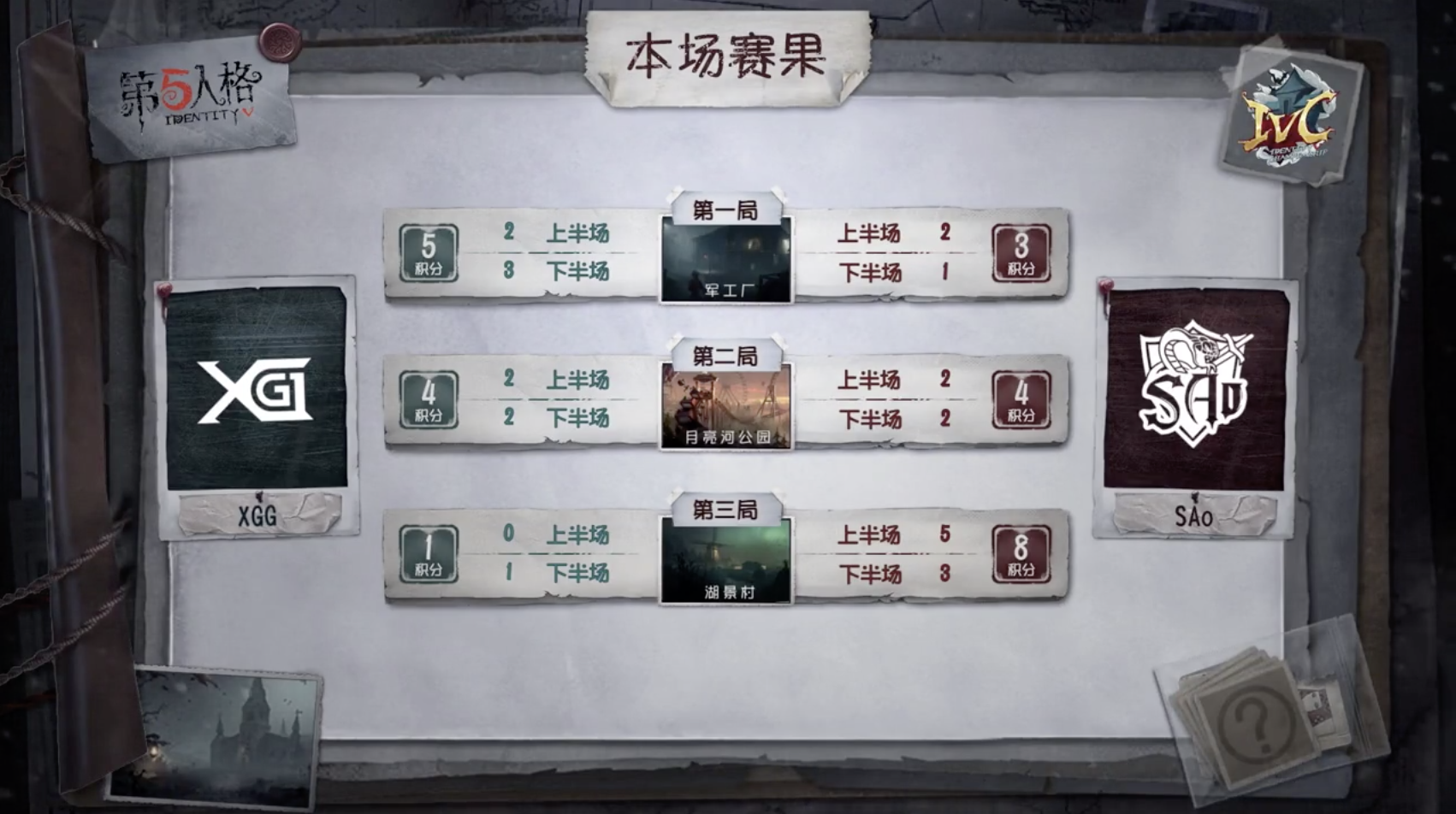 10月20日 XGG vs SAo小组赛BO3第三局