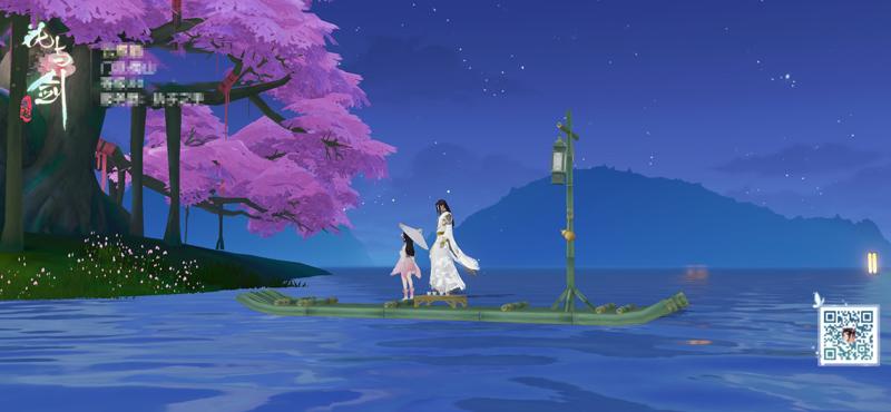 (图4)长安城外泛舟,唯美夜影尽收眼底