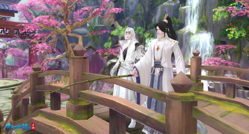 图2:孟思归与玩家溪边垂钓