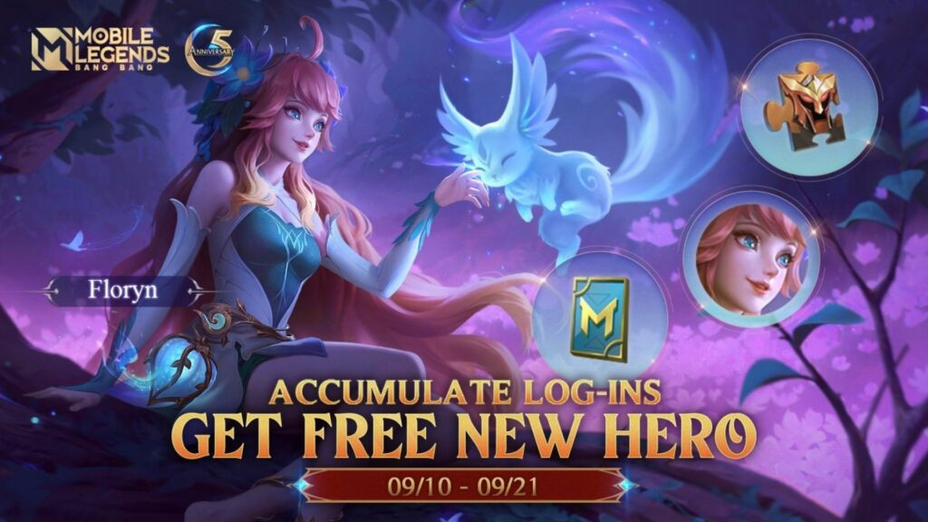 Mobile Legends 5th Anniversary Event: How to get free hero Floryn, free skins and more2